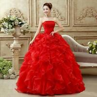 Bride Wedding Long Dress Prom Party Formal Evening Gown Adult Ceremony Ske15
