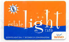 ESTATE LIGHT CARD RICARICA WIND CARTA 10.000 LIRE PER SERVIZI NUOVA