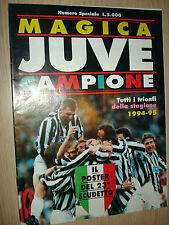 RIVISTA MAGICA JUVENTUS CAMPIONE 1994-1995 TUTTI I TRIONFI INCLUDE IL POSTER