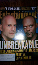 Entertainment Weekly Bruce Willis and Samuel L. Jackson Unbreakable Issue #571