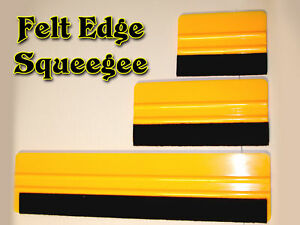 """3 Felt Squeegees for appying Adhesive Backed Vinyl, Application Tool 4""""+6""""+12"""""""