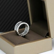 Bulgari B-ZERO 1 Anello - 3 nastro in 18kt Oro Bianco-Tg. 54 CON BOX NEUTRO