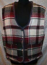 Colours Alexander Julian L Mens Flannel Reversible Vest Red Plaid / Gray