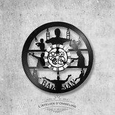 Horloge en disque vinyle 33 tours thème Barman