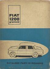 FIAT 1200 Granluce - Catalogo parti di ricambio 1957  I Edizione