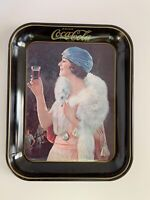 Vintage Original 1973 Coca Cola Party Girl Flapper Serving Tray 1925 Advertised