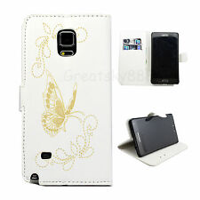 4 Color Stand Butterfly Design Flip PU Leather Wallet Cover Case For Smartphone