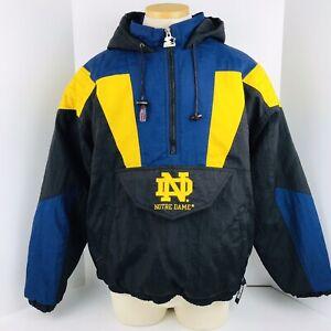Notre Dame Fighting Irish Starter Jacket Half Zip Pullover Mens Size Large