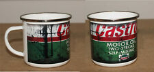 Castrol Oil Retro Vintage Classic Tin Enamel Mug Cup Garage Camping car