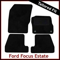 FORD FOCUS Estate Mk3 2011-2018 Tailored Carpet Car Floor Mats BLACK