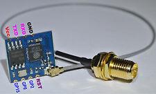 ESP8266-02+U.FL IPX SMA Pigtail+Antenne 80MHz 32-bit MCU 2.4GHz IoTSoC WiFi WLAN