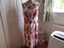 Boden Pink Floral Swishy Dress Size 16L BNWT RRP £129 Ideal Wedding/Races
