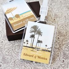24 PERSONALIZED Acrylic Luggage Tags Wedding Bridal Shower Favors