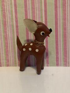 """Vintage old stuff animal fun farm? Dream Pets? Kamar? Japan brown deer toy 7"""""""