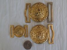 3pcs-WW2 Period USN Officer's Belt Buckles-Rare Brocade Size Included.