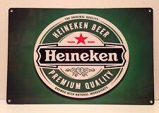 Heineken Beer Label Vintage Metal Bar Garage Wall Decor Sign 20x30 cm Dutch Beer