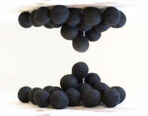 2cm BLACK Felt Balls x20.Wool.Party Decor.Pom poms.Felt Ball.Wholesale.