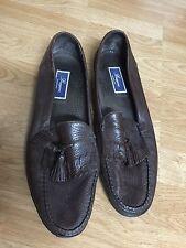 Mens Bragano Italy Leather Dark Brown Tassel Slip On Loafers Sz 13 M Dress Shoes