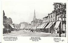 London Postcard - Old Ealing - Ealing Broadway 1893 - Looking West   V2258