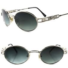 Old stock True Vintage 50s 60s Urban Hip Hop Swag Fashion Silver Oval Sunglasses
