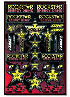 One Industries Rockstar Sticker Sheet 12 x 18 motocross bike graphics decal 4mil