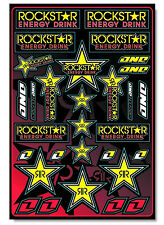 One Industries Rockstar Sticker Sheet 12 x 18 motocross bike graphics decal 4mil