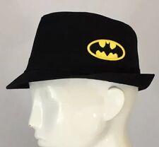 Batman Hat Boys Fedora style DC COMICS BATMAN DERBY Black Kids SIZE S