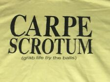 CARPE SCROTUM (grab life by the balls) T-SHIRT - size L - American Apparel
