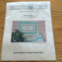 Ginger & Spice Baby Blocks counted cross stitch kit NIP