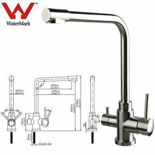 Luxury Modern Stainless Steel 3 way Mixer Tap (Hot/Cold/Pure) tall square neck