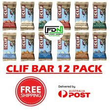 CLIF BAR ENERGY BARS 12 PACK - BEST VALUE 17 FLAVOURS - ORGANIC CLIFF PROTEIN