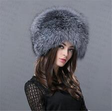 new Genuine Real fashion Winter Women fox fur New Hat Cap Headgear Beanie B8