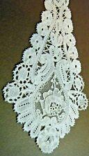 Victorian lappet Point De Gaze Brussels Duchesse needle lace single piece