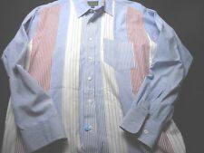 Chaps Ralph Lauren 15 1/5 34/35 Red White Blue Long Sleeve Cotton Shirt