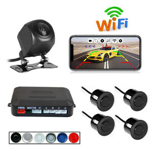 Wireless WIFI Car Rear View Cam+Radar HD Night Vision Fit for iPhone and Android