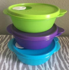 Tupperware Crystalwave Small Round Containers Set of Three 2 1/2 Cups New