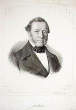 c1850 Feuerwehr Hamburg Bieber Johann Ehlert Lithographie-Porträt Eybe