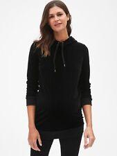 4e37a5adbc8 Gap Maternity Velvet Pullover Hoodie Size XS- Black- NWT