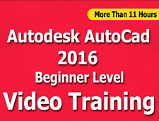 Learn Autodesk AutoCad 2016 Video Training Tutorials CBT Beginner Level 11+ Hrs