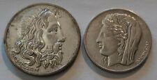 GREECE / 1930 10 & 20 Drachmai,Demeter & Poseidon !!