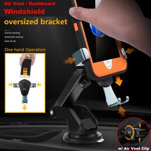 360¡ã Universal Gravity Car Mount Air Vent Windshield Holder Cradle Phone Stand