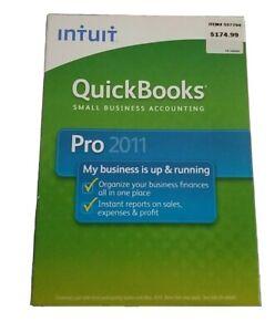 Brand New Intuit QuickBooks Pro 2011 s2