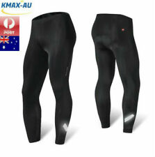 Mens Padded Cycling Bike Long Pants Bicycling Riding Compression Sports Sponge