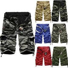 Herren Cargo Shorts Vintage Bermuda Kampfhose Camo Kurzhosen Cargohose Hose