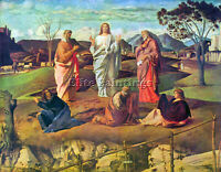 BELLINI TRANSFIGURATION OF CHRIST BY BELLINI ARTIST PAINTING OIL CANVAS REPRO