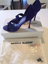 Manolo Blahnik Purple Suede Shoes 37