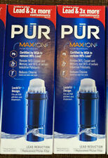 2 Pack PUR Maxion Water Pitcher Replacement Filter 3x Lead Reducer Model PPF951K