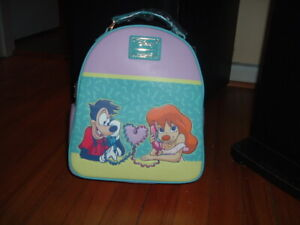 LOUNGEFLY DISNEY GOOFY MOVIE MAX & ROXANNE LOVE MINI BACKPACK~ WITH TAGS~ NEW~