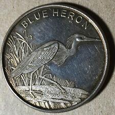 Blue Heron 1 Ounce .999 Silver Bullion Round #SR36