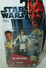 Obi Wan Kenobi action figure & lightsaber Star Wars Movie Heroes 3.75 Hasbro New